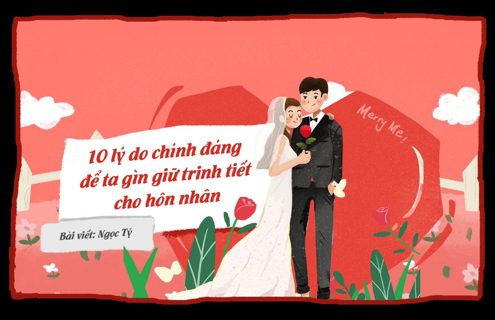 10 lý do chính đáng để ta gìn giữ trinh tiết trong hôn nhân