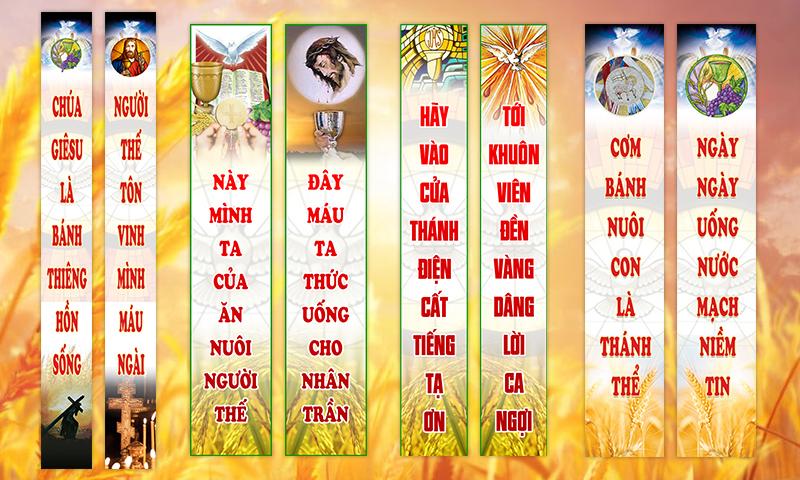 Chia sẻ mẫu thiết kế Banner Chầu Thánh Thể