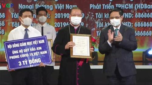 Hội đồng Giám mục Việt Nam ủng hộ Quỹ vắc-xin phòng Covid-19